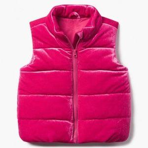 Gymboree Velvet Puffer Vest New